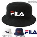 【FILA】フィラ パイル生地 ロゴ バケットハット 帽子