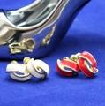 【2色】クロスデザインのメタルイヤリング