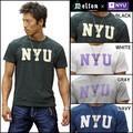 【2015年夏物新作】【MELTON COMPANY】NEW YORK UNIVERSITY コラボ 半袖Tシャツ<日本製>