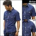【2015年夏物新作】【MELTON COMPANY】ワークシャツ 半袖シャツ<日本製>