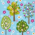 Paper+Design ペーパーナプキン 木×フラワー