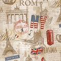Paper+Design ペーパーナプキン エッフェル塔・NY・ロンドン