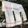 【布製品】フェイスタオル  リネン ナチュラルボーダー(3色展開) 各種