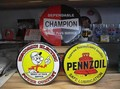 RoundTinPlate<Reddy Kilowatt/CHAMPION/PENNZIOL>