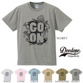 "【DEEDOPE】  ""GO ON"" 半袖 プリント Tシャツ 綿100% カットソー"