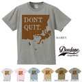 "【DEEDOPE】  ""DON'T QUIT"" 半袖 プリント Tシャツ 綿100% カットソー"