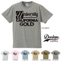 "【DEEDOPE】  ""UNIVERSITY OF CALIFORNIA GOLD"" 半袖 プリント Tシャツ 綿100% カットソー"