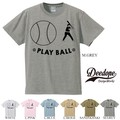 "【DEEDOPE】  ""PLAY BALL"" 半袖 プリント Tシャツ 綿100% カットソー"