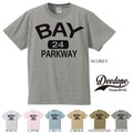"""【DEEDOPE】  """"BAY 24 PARKWAY"""" 半袖 プリント Tシャツ 綿100% カットソー"""