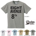 "【DEEDOPE】  ""EIGHT AVENUE 8TH"" 半袖 プリント Tシャツ 綿100% カットソー"