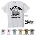 "【DEEDOPE】  ""CITY OF PHILADELPHIA"" 半袖 プリント Tシャツ 綿100% カットソー"