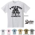 "【DEEDOPE】  ""THE WILD WEST COWBOY"" 半袖 プリント Tシャツ 綿100% カットソー"