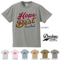 "【DEEDOPE】  ""HOPE FOR THE BEST"" 半袖 プリント Tシャツ 綿100% カットソー"
