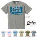 "【DEEDOPE】  ""PALM BEACH GARDENS"" 半袖 プリント Tシャツ 綿100% カットソー"