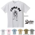 "【DEEDOPE】  ""COME ON"" 半袖 プリント Tシャツ 綿100% カットソー"