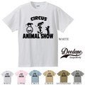 "【DEEDOPE】  ""CIRCUS ANIMAL SHOW "" 半袖 プリント Tシャツ 綿100% カットソー"