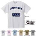 "【DEEDOPE】  ""INPERIAL BLUE "" 半袖 プリント Tシャツ 綿100% カットソー"