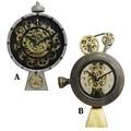 歯車が見えるアンティークデザインの置時計★【ロータリングギアクロック】2種から♪