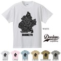 "【DEEDOPE】  ""BROOKLYN WORDS "" 半袖 プリント Tシャツ 綿100% カットソー"