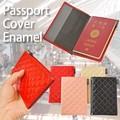 【旅行 パスポート】パスポートケース キルティング ピンク 黒 ベージュ カバー ホルダー