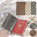 【旅行 パスポート】パスポートケース チェック 黒 ホワイト 白 カバー レディース ホルダー 市松模様