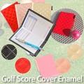【ゴルフ用品】ゴルフスコアホルダー キルティング ピンク 黒 ベージュ スポーツ レディース