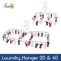 【即納可能】SUNNY(サニー)  Tricolore ランドリーハンガー 20/40ピンチ【ライフ】