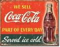 ブリキ看板 COKE Ice Cold #58276