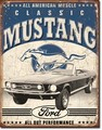 ブリキ看板 Mustang #58291