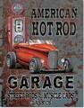 ブリキ看板 Hot Rod Garage #58316