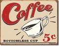 ブリキ看板 Coffee 5 cent #58337