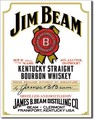 ブリキ看板 Jim Beam White Label #58411