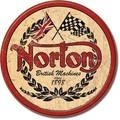 ブリキ看板 Norton Logo Round #58519