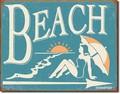 ブリキ看板 Beach #58526