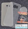 <スマホケース> Galaxy S6 SC-05G(ギャラクシー)用薄型ドットクリアソフトケース