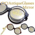 アンティークグラスミラー【スライドミラー時計モチーフハンドミラー/手鏡】【在庫一掃セール商品】