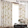【直送可】北欧風デザインカーテン[アルメリア]【2枚組】【幅95×丈135cm】