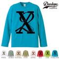 "【DEEDOPE】 ""X2 "" ロンT 長袖 プリント Tシャツ"