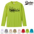 "【DEEDOPE】 ""EXPRESSION "" ロンT 長袖 プリント Tシャツ"