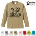 "【DEEDOPE】 ""DESTINY "" ロンT 長袖 プリント Tシャツ"