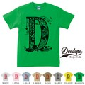 "【DEEDOPE】 ""LETTER D "" 半袖 プリント Tシャツ"