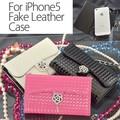 【現品限り】iPhone5ケース エナメル型押しカメリア ハンドバック型 マグネット iPhoneSE 母の日