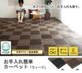 【日本製】【直送可】洗えるPPカーペット 『ウィード』アウトドアにも