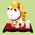 縁起かつぎ招き猫/六瓢箪