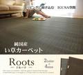 【日本製】【直送可】デザインい草ラグ『ルーツ』2色4サイズから選べる※指定売価