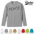 """【DEEDOPE】 """"PEACE """" ロンT 長袖 プリント Tシャツ"""