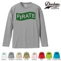 "【DEEDOPE】 ""PIRATE "" ロンT 長袖 プリント Tシャツ"