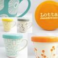 (日本製)【Lotta Jansdotter】ロッタ 北欧デザイン蓋付きマグ