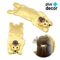 大きな熊デザイン・ゴールド・ヘアバレッタ