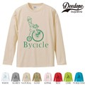 "【DEEDOPE】 ""BYCICLE "" ロンT 長袖 プリント Tシャツ"